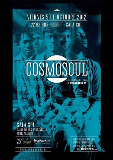 Cartel de Cosmosoul en la Sala Sol