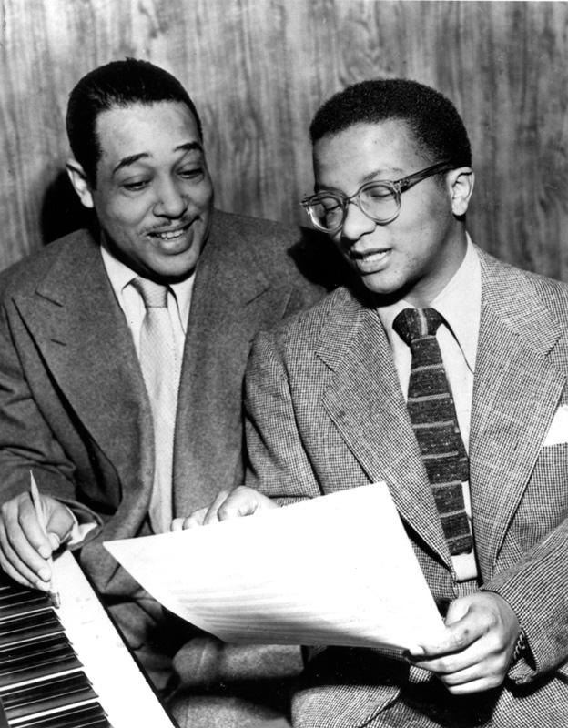 Juan Tizol y Duke Ellington componiendo