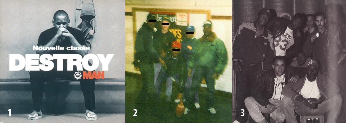 1. Nouvelle Classe (Barclay, 1992), álbum de rap de Destroy Man de los Black Panthers. 2. Momo de los Asnays a la derecha del todo. 3. Parte de los Asnays. Arriba, de izquierda a derecha: Joel, Momo, Mike, Karim, Leroy. Abajo: Man y Bob.