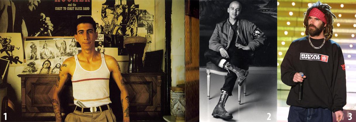 . Farid, antiguo skin de Les Halles. 2. Dino, skin trojan de Les Halles. 3. Pierpoljak, antiguo skinhead de Les Halles reconvertido en estrella del reggae francés.