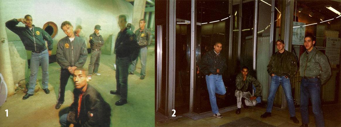1. Ruddy Fox en sus comienzos. En primer plano Domino, tras él, Filou. 2. Ruddy Fox en los primeros noventas.