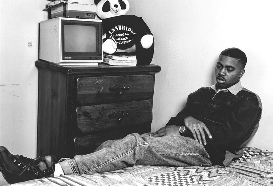 Nas fotografiado por Chi Modu antes de Illmatic