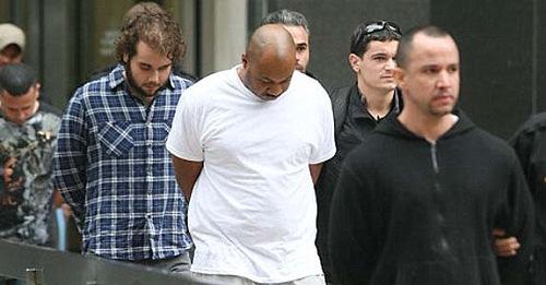 Biggs Burke en el momento de ser detenido