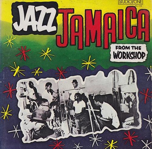 Portada original del LP 'Jazz Jamaica From The Workshop', que incluye una fotografía de la sesión que alumbró el álbum.