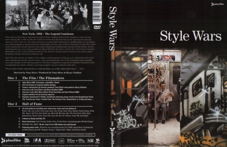 Portada y contraportada del histórico documental de grafiti Style Wars