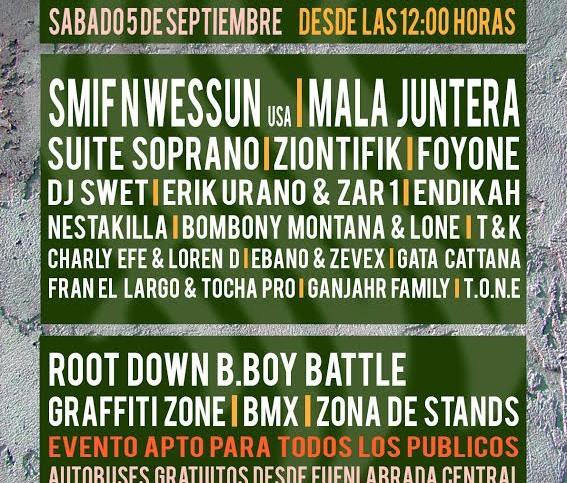 Cartel de Street Dreams Festival 2015, festival que se celebra en Fuenlabrada el sábado 5 de Septiembre de 2015