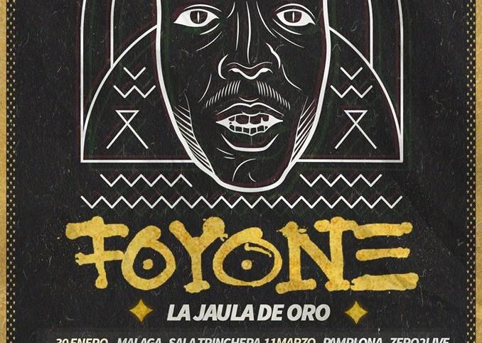 Cartel de la gira 'La Jaula de Oro' de Foyone