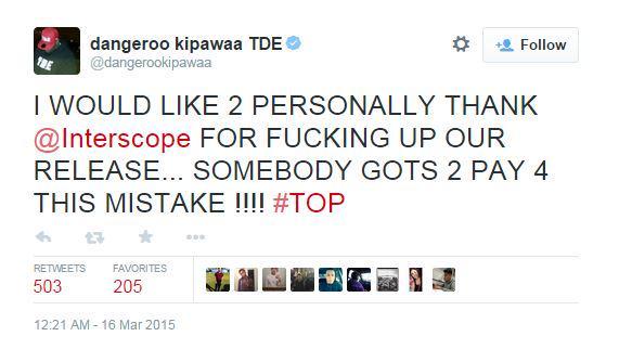 Interscope fucks Kendrick Lamar