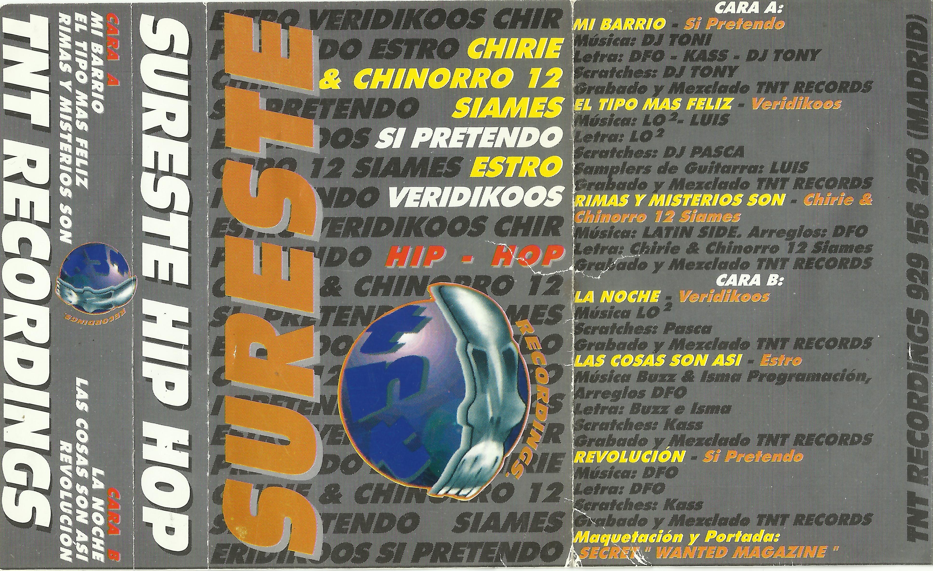Portada de SurEste Hip-Hop, un recopilatorio de rap español del año 1998 que publicó TNT Recordings