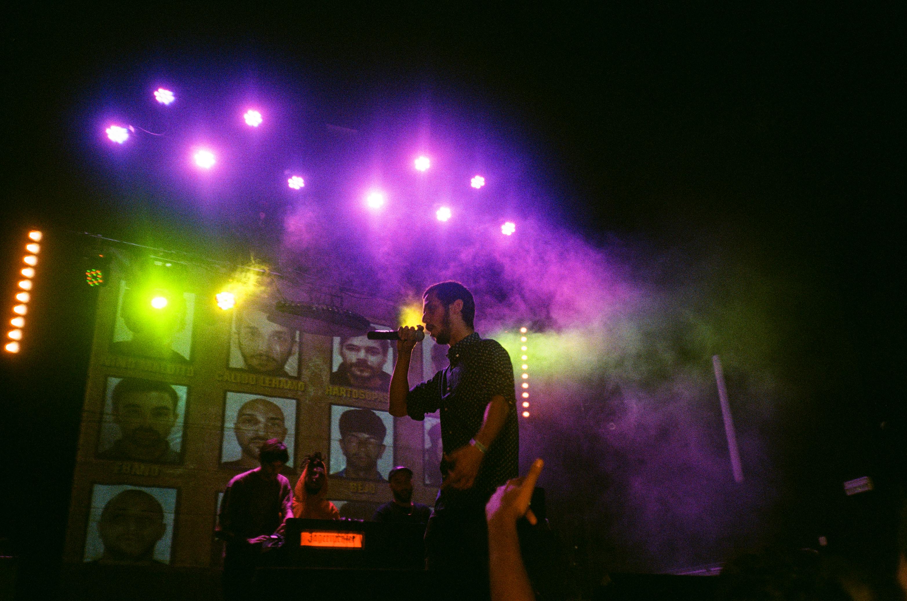 Calido Lehamo, Hartosopash, DJ Swet en I.D. Party (Fotografía por Alberto Pérez Urraca)