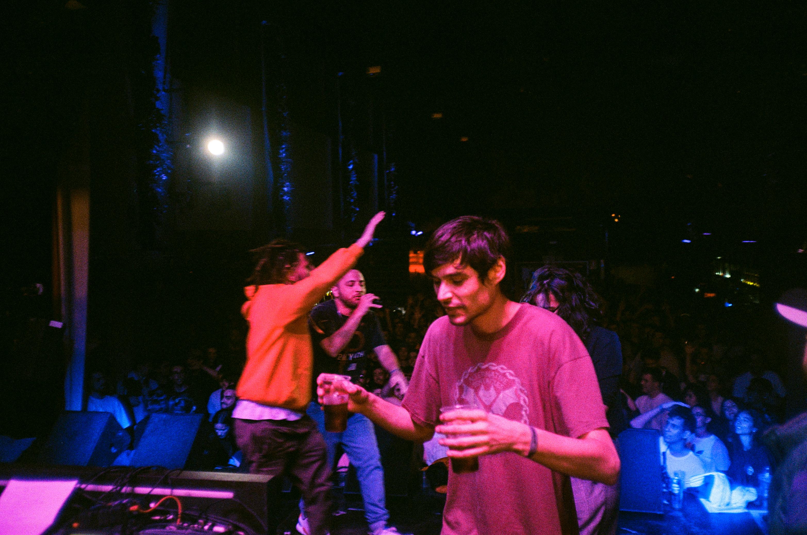 Dano, Hartosopash, y José Benitez en I.D. Party (Fotografía por Alberto Pérez Urraca)