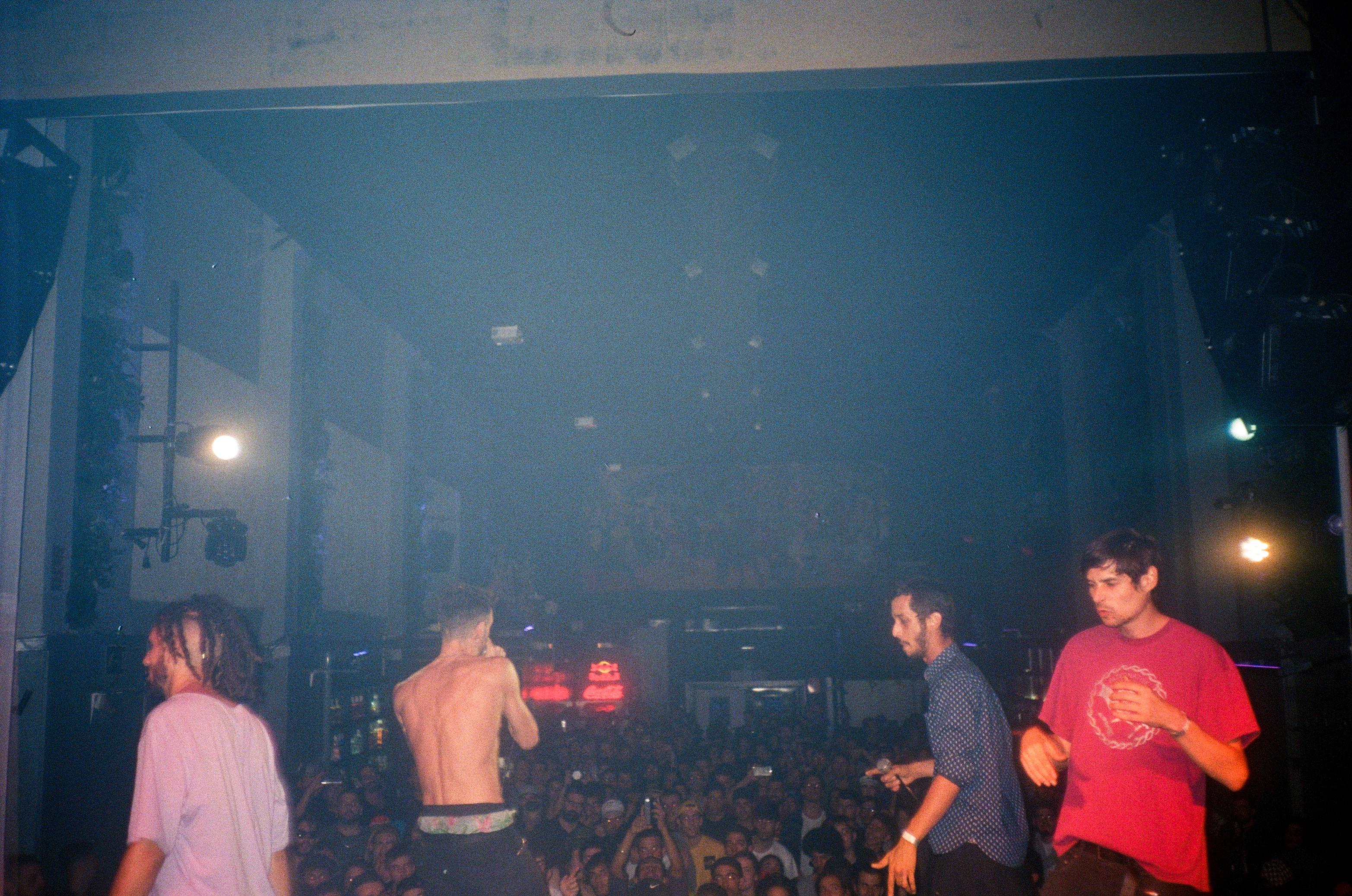 Calido Lehamo, Hartosopash, Niño Maldito y José Benitez en I.D. Party (Fotografía por Alberto Pérez Urraca)